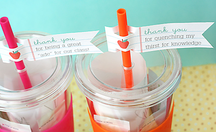 Give a practical gift to help your teachers stay hydrated. | The Dating Divas