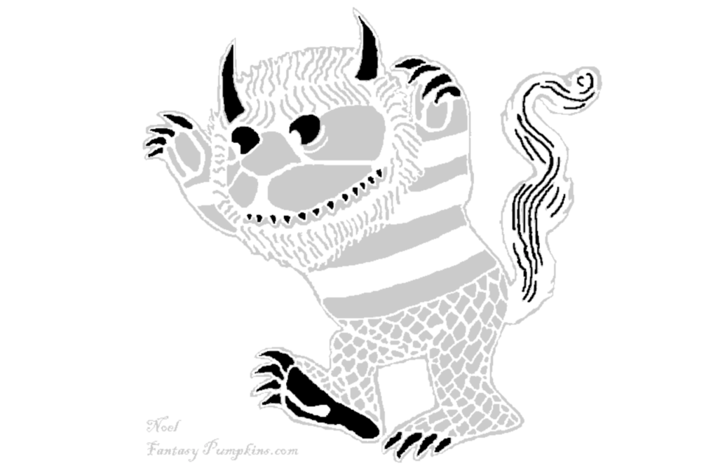 Where the Wild Things are monster advanced pumpkin carving pattern. | The Dating Divas