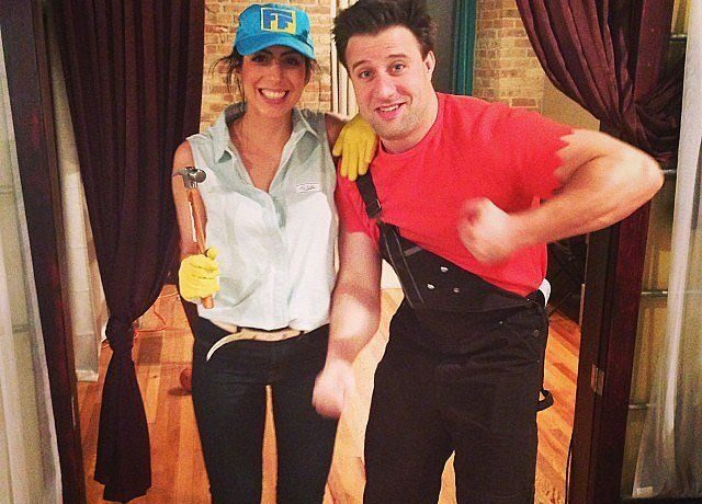 Fix-It Felix and Wreck-It costume for 2020 Halloween. | The Dating Divas
