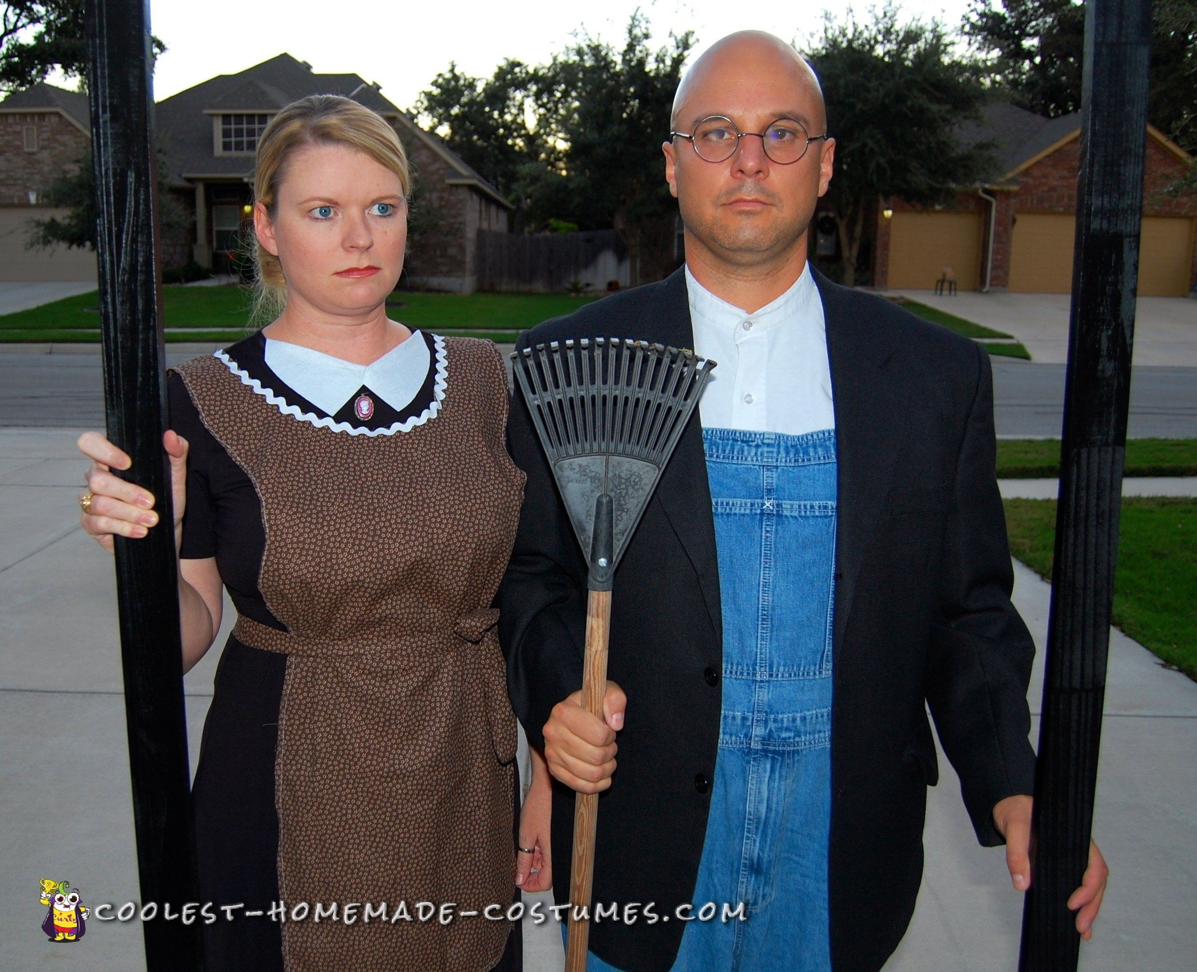 American gothic painting couples costume for you. | The Dating Divas