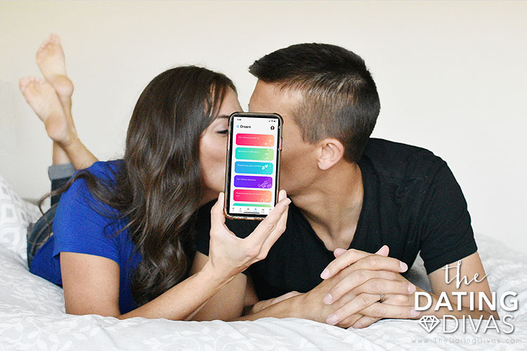 Couple Playing a Bedroom Game from the Intimately Us App | The Dating Divas