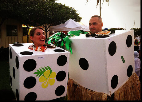Pair of dice Halloween costumes. | The Dating Divas