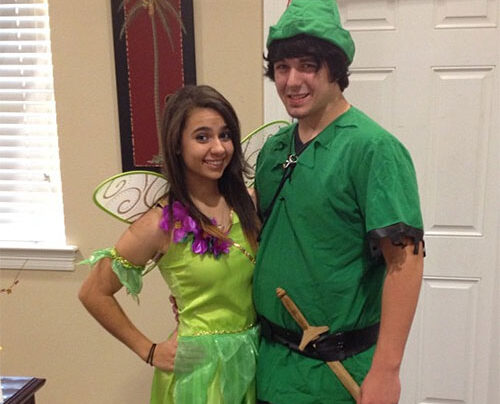 Peter Pan and Tinkerbell costume for 2020. | The Dating Divas
