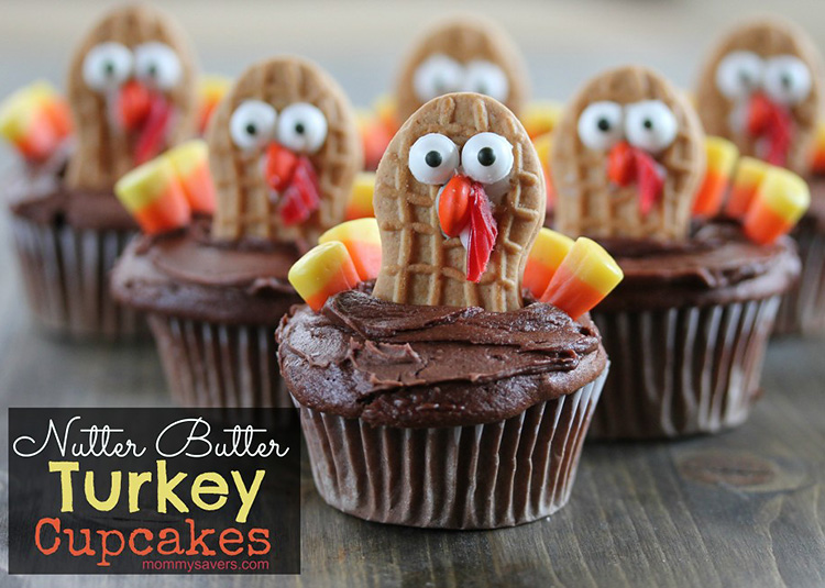 Dress up your cupcake to make a perfect Thanksgiving treat for kindergarteners. | The Dating Divas