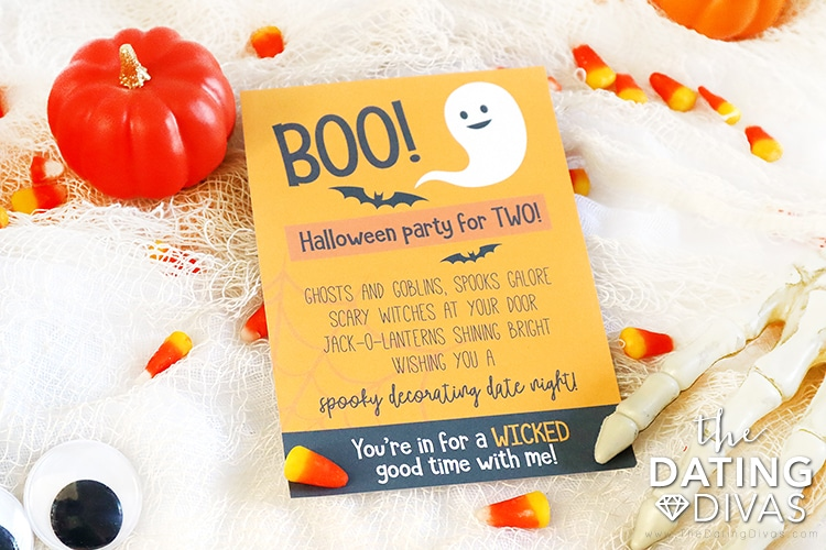 Halloween Date Invitation | The Dating Divas