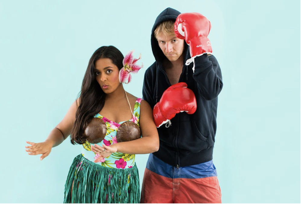 Couples Costume Idea with Hawaiian Girl  | The Dating Divas