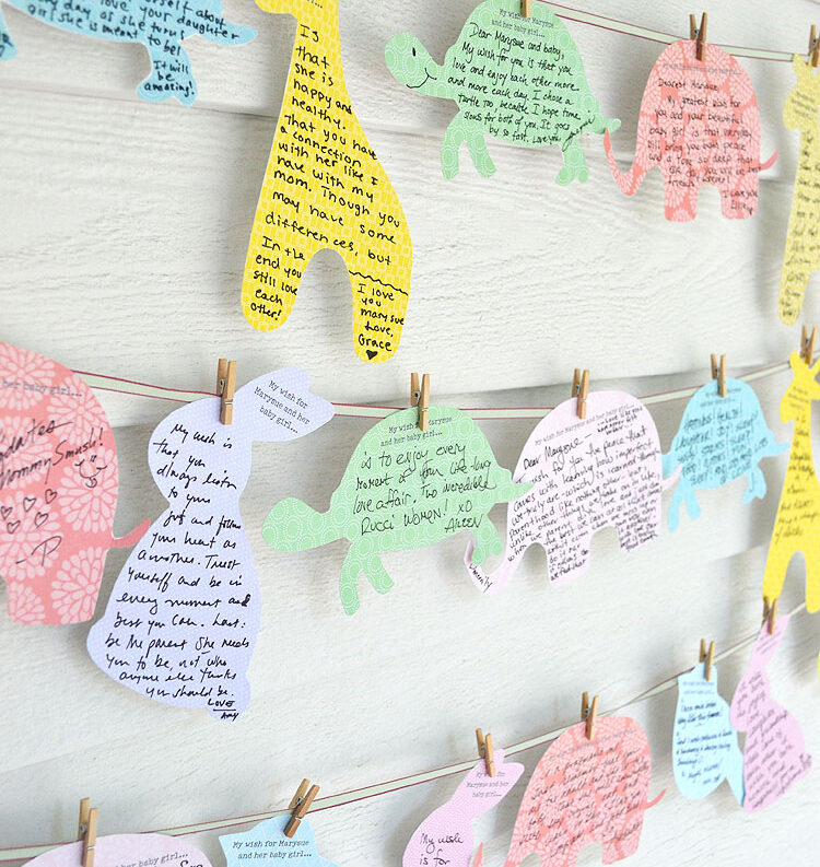 Ideas for well-wishes for baby at a baby shower. | The Dating Divas