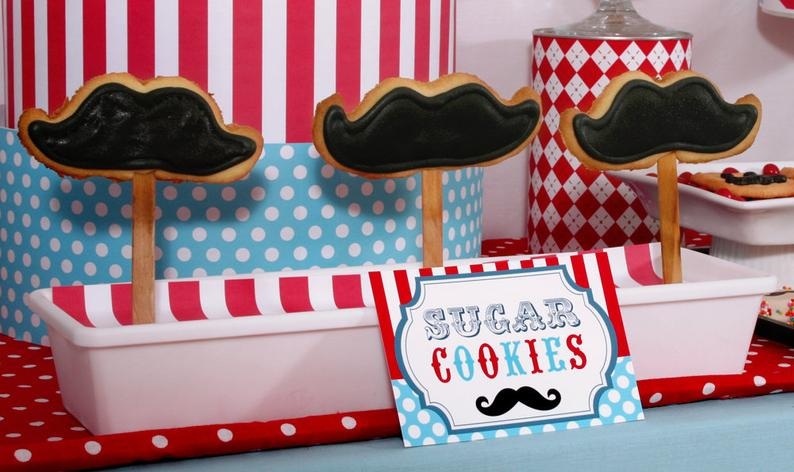 """Adorable """"Mustache"""" baby boy shower package. 