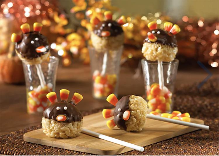 Rice Krispie treat Thanksgiving food idea. | The Dating Divas