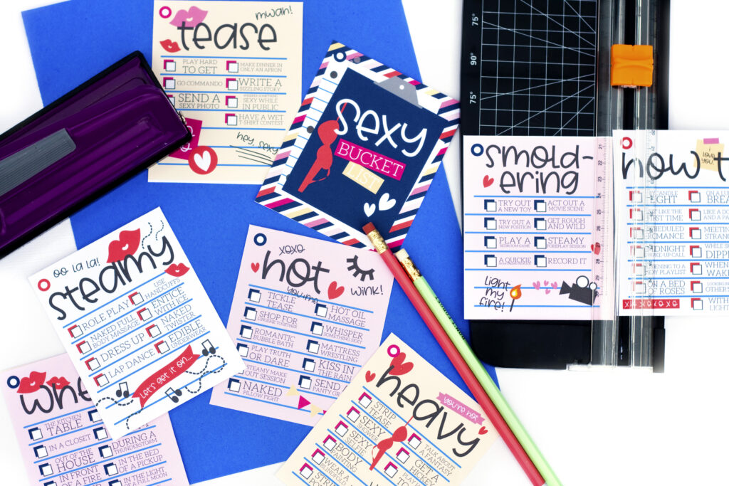 How to put sex bucket list printables together. | The Dating Divas