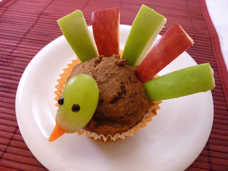 Add fruit to your favorite muffin for a delicious Thanksgiving finger food. | The Dating Divas