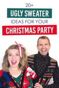 Ok, I love Ugly Sweater Christmas Parties! These ideas and prints from www.TheDatingDivas.com are amazing! Trying #6 this year! #UglySweaterIdeas #TheDatingDivas #UglyChristmasSweater