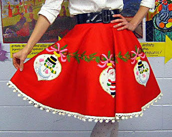 Tree-skirt Turned Ugly Christmas Sweater Skirt | The Dating Divas