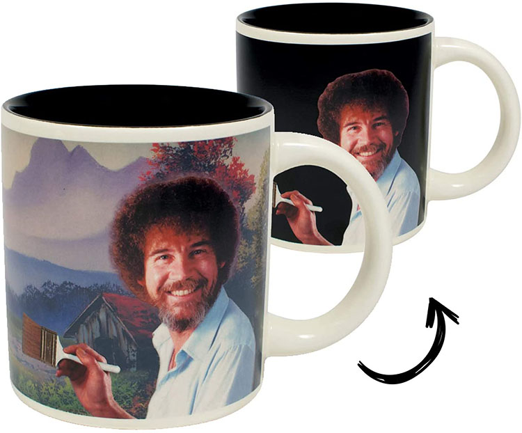 Color changing mug feature Bob Ross | The Dating Divas