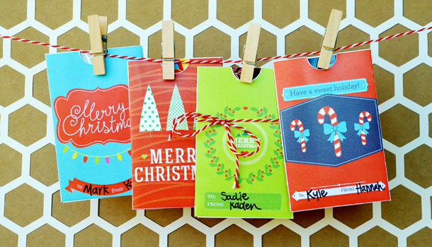 Printable gift card holders for a Christmas gift idea | The Dating Divas