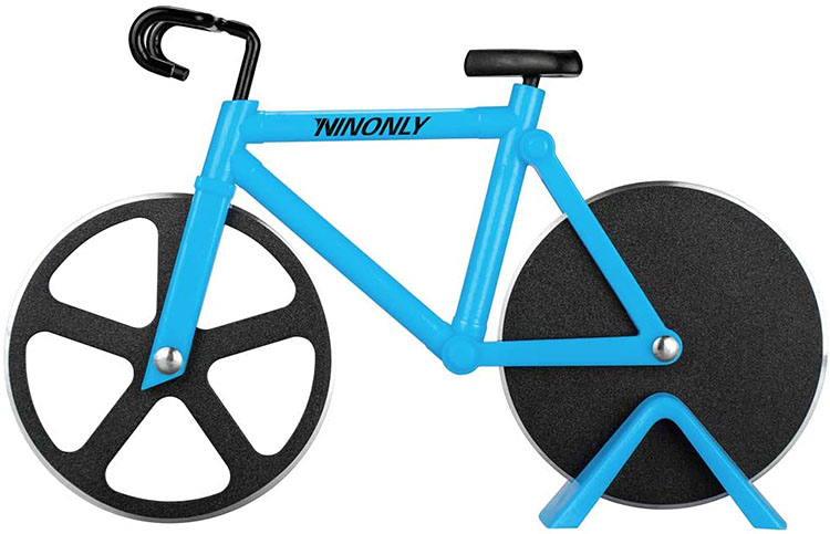 A bicycle-shaped pizza cutter - a useful gag gift for Christmas | The Dating Divas