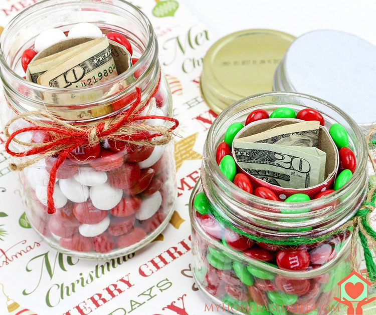 A jar of candies with money hidden inside of it as a surprise |The Dating Divas