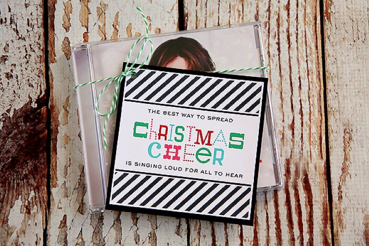 Christmas poem attached to the front of a music CD | The Dating Divas