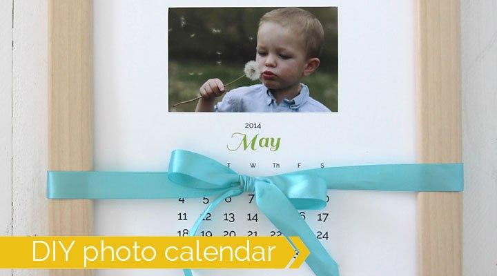 Photo calendar you can customize as an easy Christmas gift idea - The Dating Divas