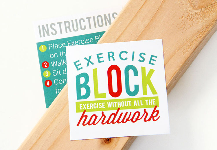 Cheap white elephant gift idea Piece of would with instructions for you take a few laps around the block for your exercise. | The Dating Divas