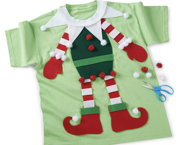 A Simple Felt Elf Body for an Ugly Christmas Sweater | The Dating Divas