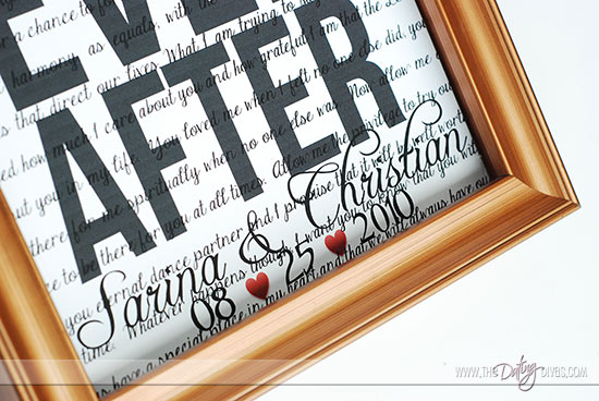 Sweet Christmas gift idea for him with wedding date in frame - The Dating Divas