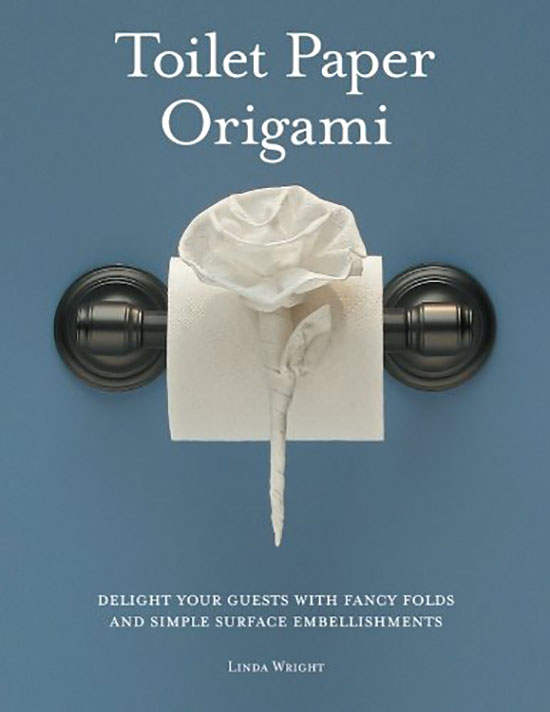 A toilet paper Origami book for a white elephant gift | The Dating Divas