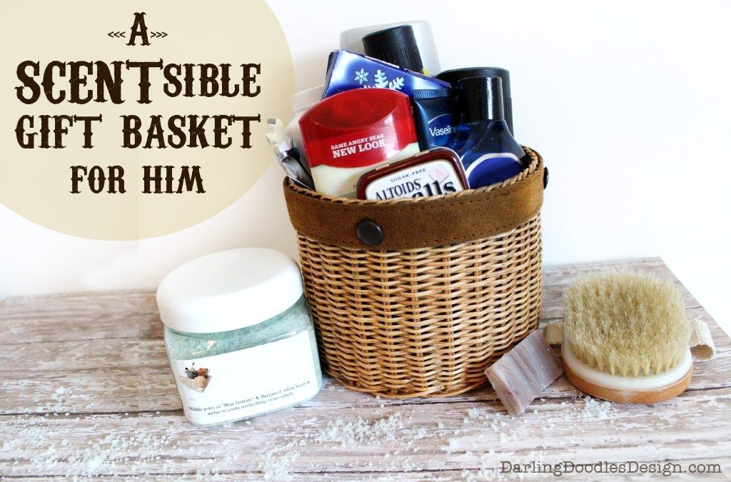 A man and woman smelling Christmas items for a gift basket | The Dating Divas