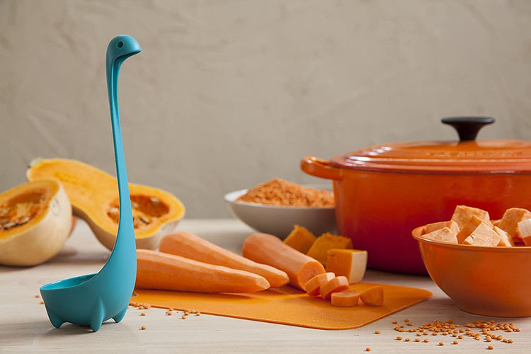 Kitchen ladle that looks like the lochness monster - a fun white elephant gift | The Dating Divas