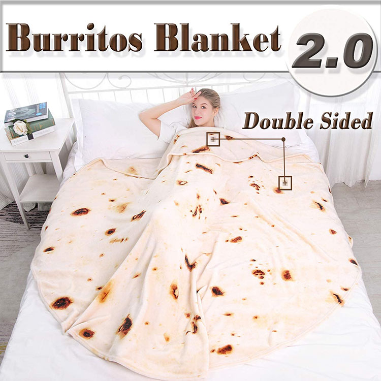 A large round blanket that looks like a tortilla | The Dating Divas