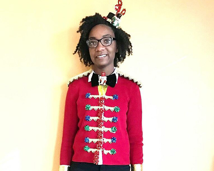 DIY Ugly Sweater Pic with a Nutcracker Theme | The Dating Divas