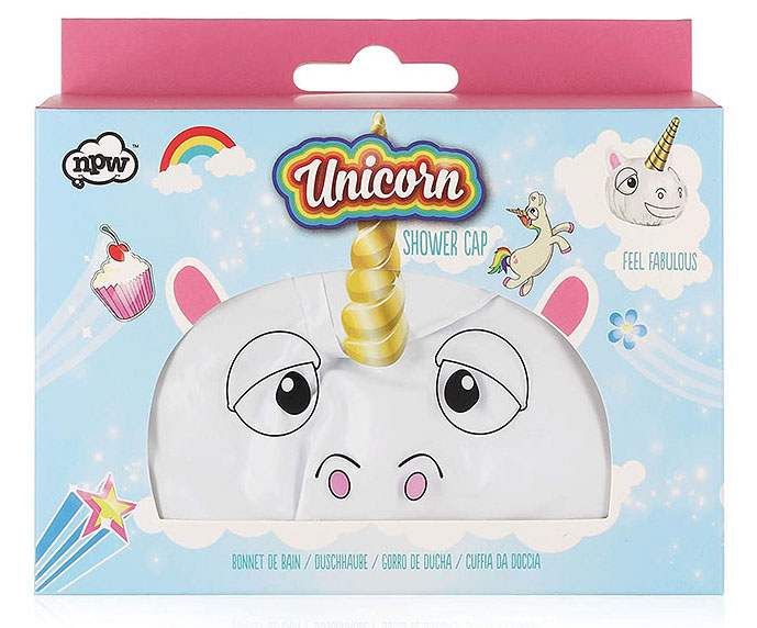 A shower cap that looks like a unicorn - a useful gag gift idea | The Dating Divas