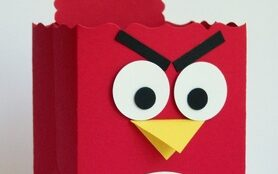 Red Angry Birds box for Valentine's Day cards | The Dating Divas