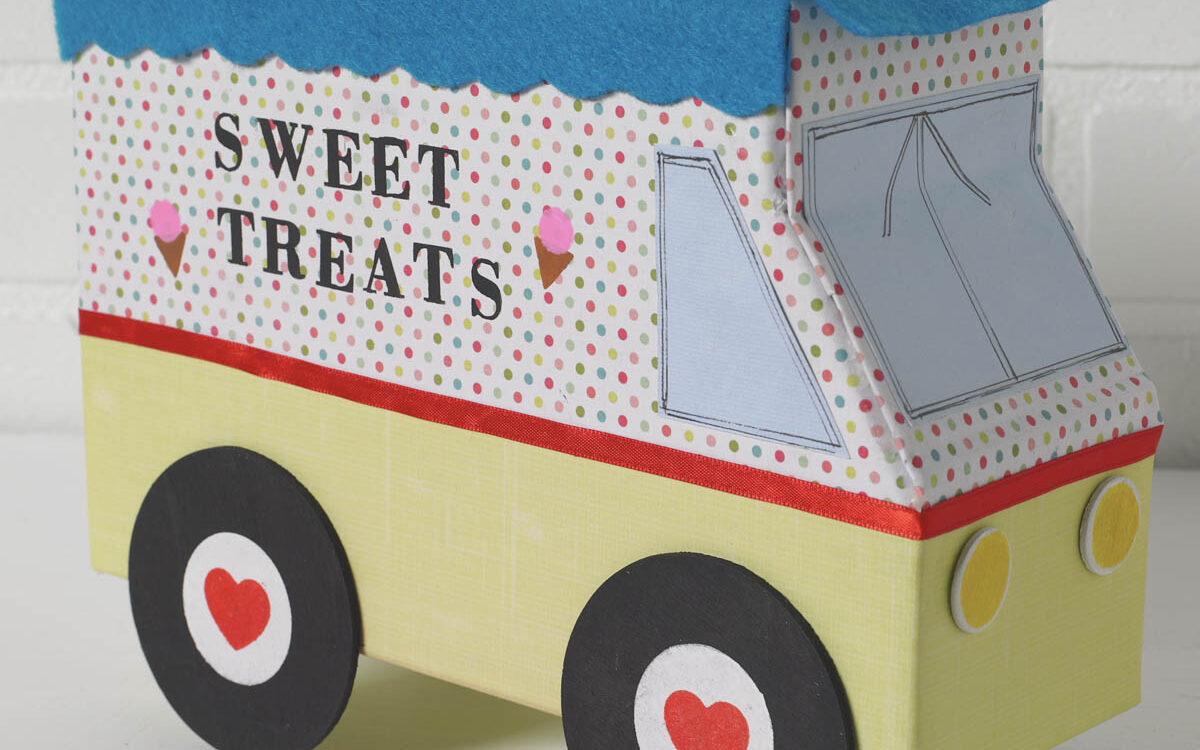 Sweet treats Valentine's Day ice cream truck box idea | The Dating Divas