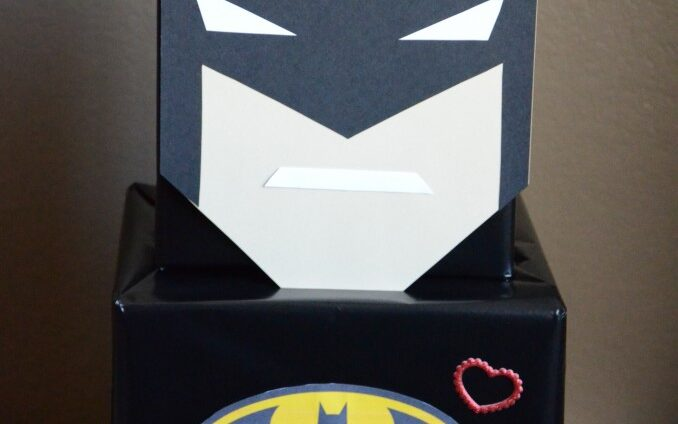 Batman face on top of box for Valentine's Day cards | The Dating Divas