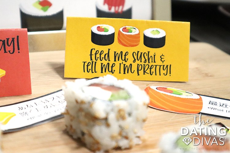 Flirty sushi printables that are perfect  for decorations. | The Dating Divas