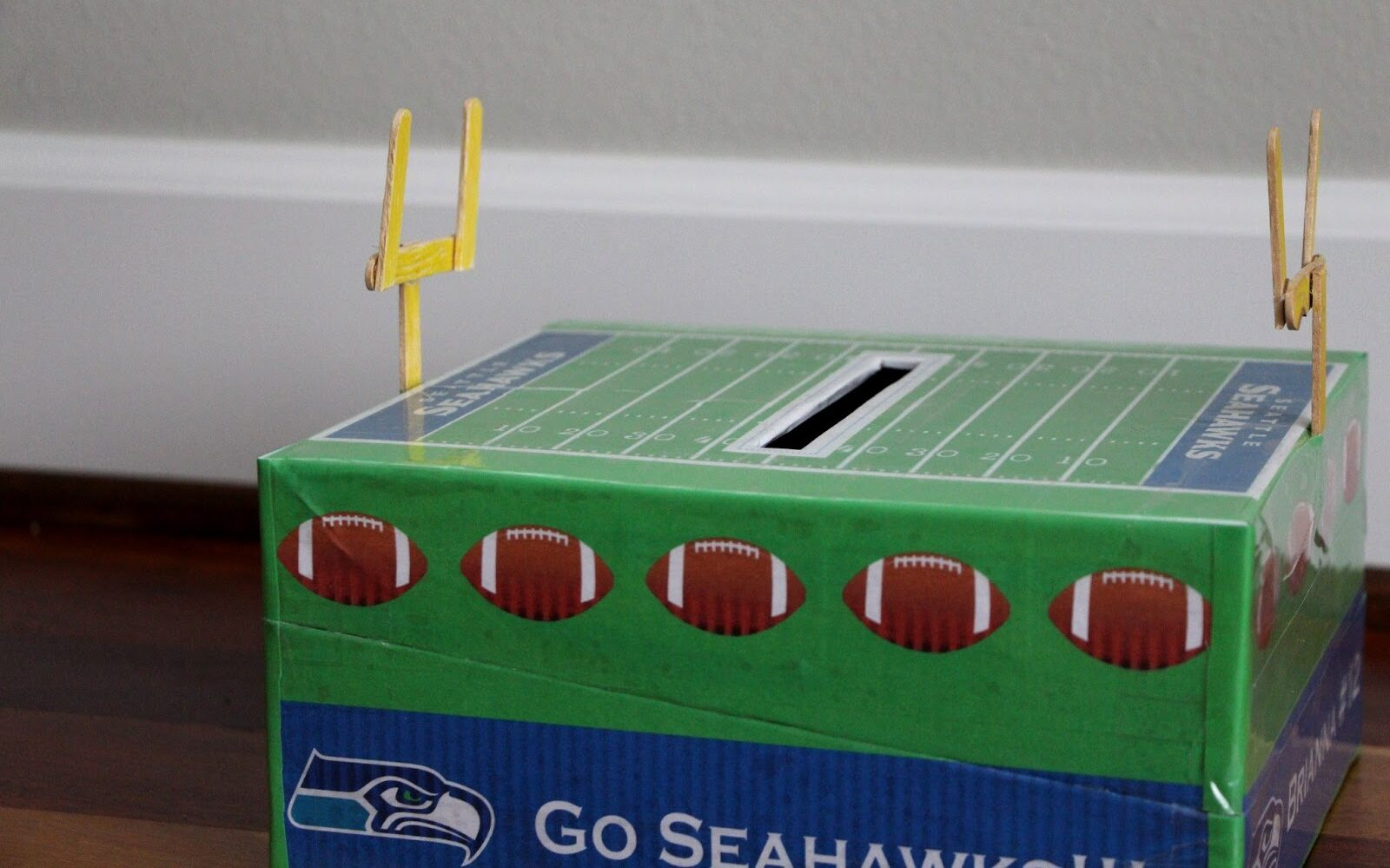 Seahawks football field box for Valentine's Day | The Dating Divas