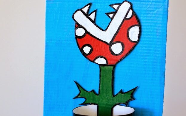 Mario plant Valentine's Day box by Pink Stripey Socks | The Dating Divas