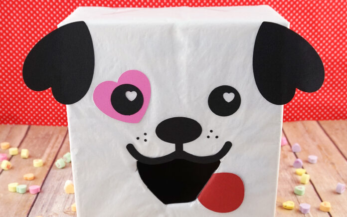 Adorable puppy dog valentine box for creative valentines box ideas | The Dating Divas