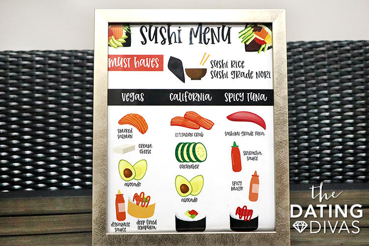 List of sushi must haves that are perfect to frame for date night. | The Dating Divas