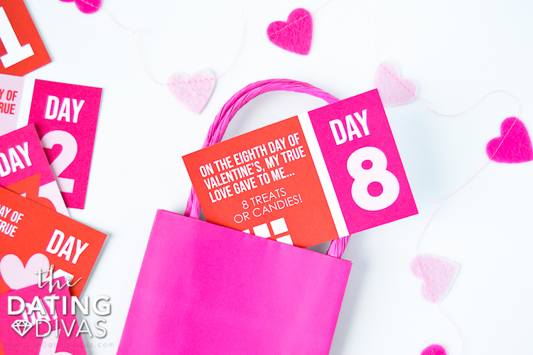 Printables of the Twelve Days of Valentines Gift  | The Dating Divas
