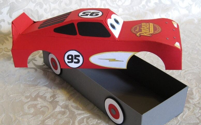 Red Lightning McQueen box for Valentine's Day cards | The Dating Divas