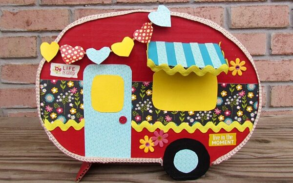 Mini red and yellow camper Valentine's Day box | The Dating Divas