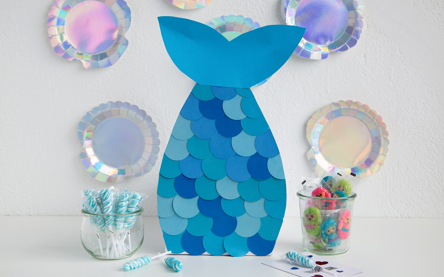 Pretty blue mermaid tail Valentine's Day box | The Dating Divas