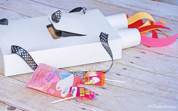 Rocket booster valentine box that you can wear by One Creative Mommy | The Dating Divas