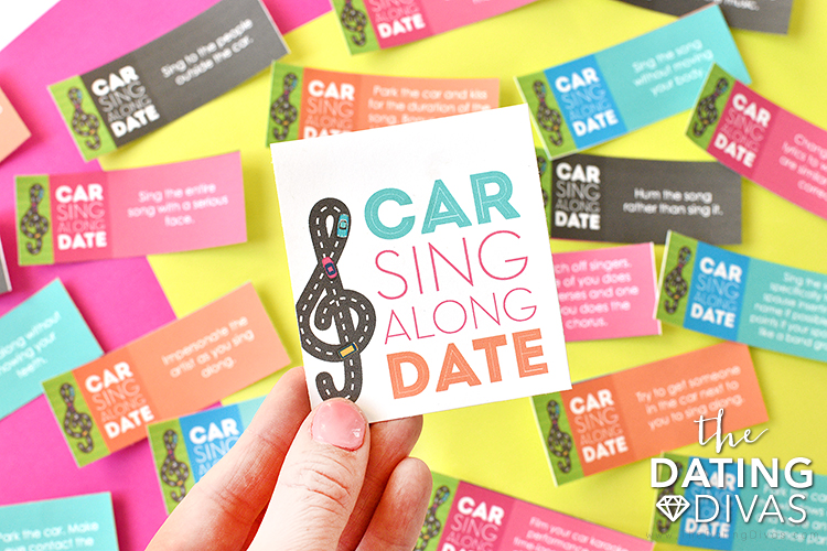 Printables for a car karaoke date night game. | The Dating Divas