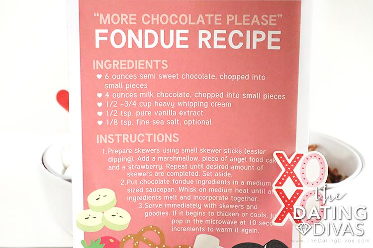 Free chocolate fondue recipe printable | The Dating Divas
