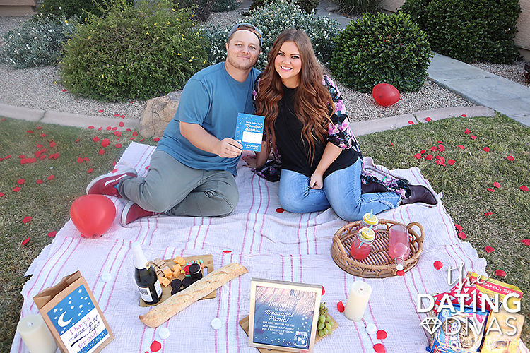 Husband and wife having a romantic picnic for date night | The Dating Divas