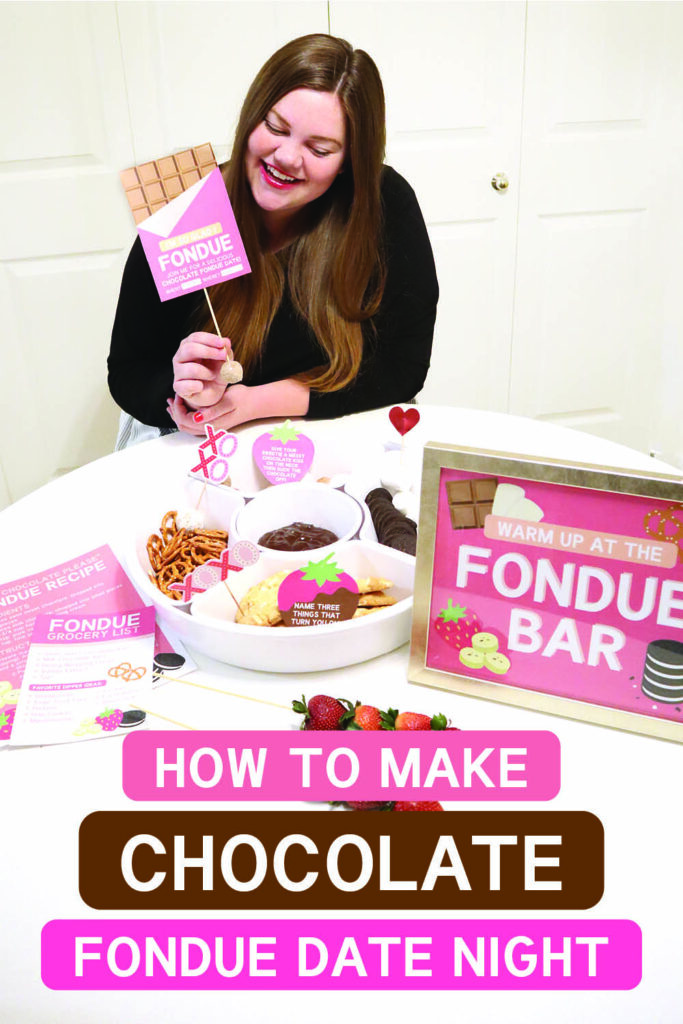 Chocolate fondue recipes and printables that are perfect for a romantic date night | The Dating Divas
