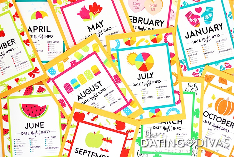 A year's worth of printable dates for him | The Dating Divas